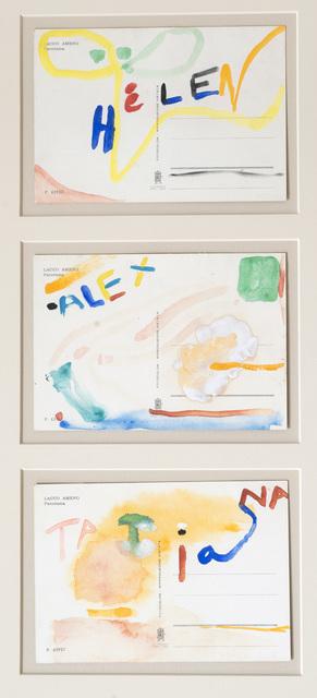 , '3 original watercolor cards for Alexander & Tatiana Liberman,' , Eckert Fine Art