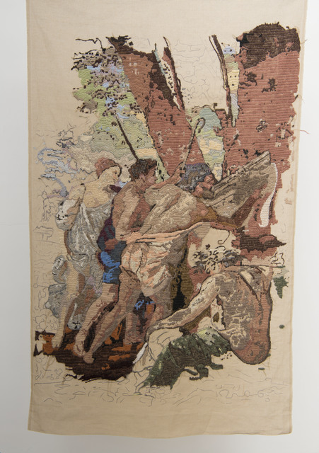 ", 'Banner 3, from ""Les Bergers d'Arcadie"", Nicolas Poussin,' 2009, The Gallery Apart"