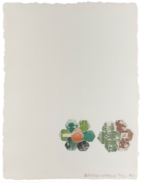 Robert Rauschenberg, '11,000 and Rising (from L.A. Flakes)', 1982, John Moran Auctioneers