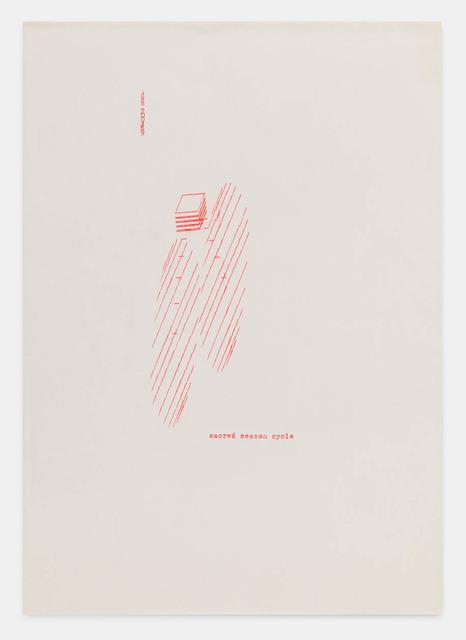 , 'sacred season cycle 200469,' 1969, Richard Saltoun