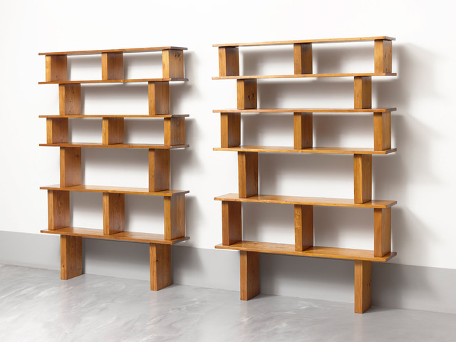Charlotte Perriand & Pierre Jeanneret, 'Pair of pine bookshelves,' ca. 1950, Galerie Jacques Lacoste