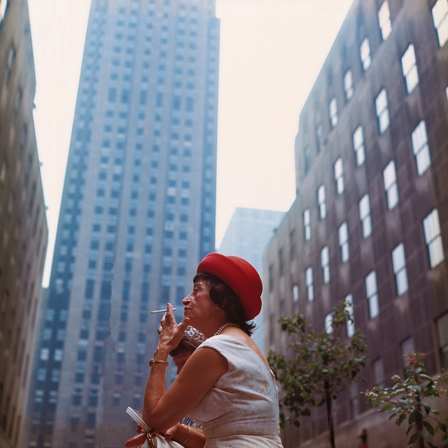 Michel Hosszu, 'SMOKING LADY WITH A RED HAT – NEW YORK 1964', 1964, Poulpik Gallery