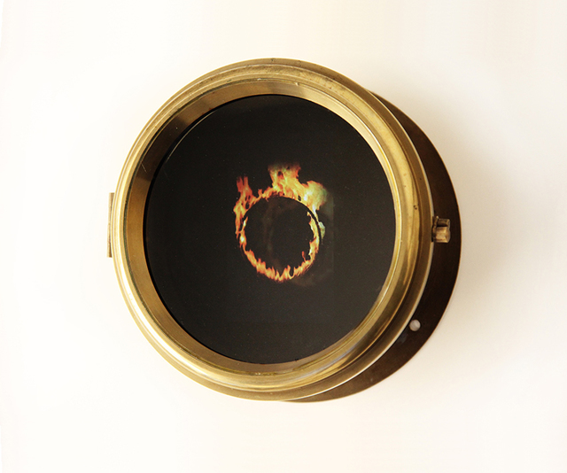 , 'Boston Clock - Flaming Hoop,' 2014, MA2Gallery