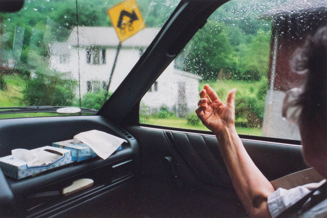 Doug DuBois, 'My grandmother points to her old house, Avella, PA', 1991/2014, Aperture Foundation Benefit Auction