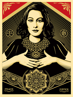 Shepard Fairey (OBEY), 'Peace and Justice Woman', Reem Gallery