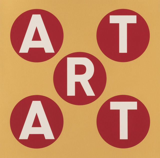 , 'ART (Gold/Red),' 2013, Contini Art UK