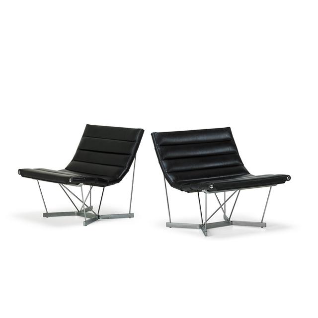 George Nelson, 'Pair Of Catenary Chairs, Zeeland, Mi', 1960s, Rago/Wright