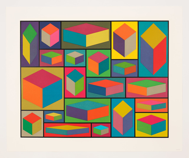 , 'Distorted Cubes (E),' 2001, Pace Prints