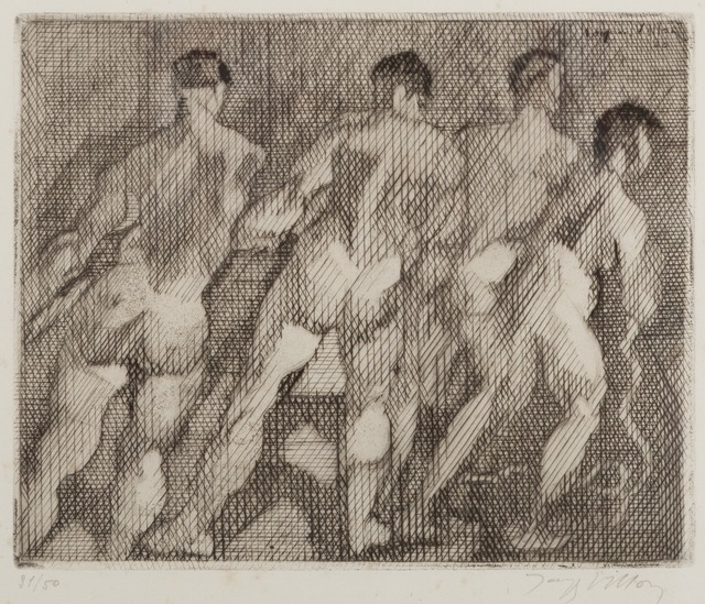 Jacques Villon, 'Les Haleurs', 1930, Print, Drypoint and etching, Childs Gallery