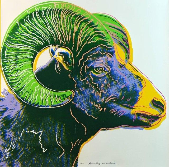 Andy Warhol, 'Bighorn Ram II.302', 1983, OSME Fine Art