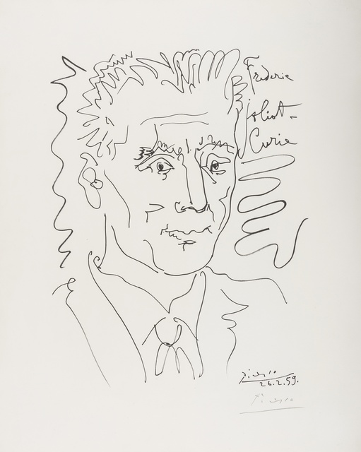 Pablo Picasso, 'Portrait of Frederic Joliot-Curie', 1959, Forum Auctions