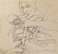 , 'Study for Woman on Bicycle/Susan,' 1974, Catharine Clark Gallery