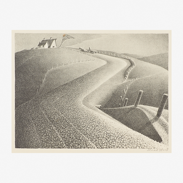 Grant Wood, 'March', 1939, Print, Lithograph on paper, Rago/Wright