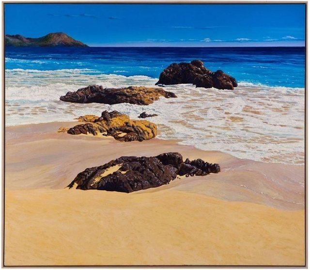 Fabio Aguzzi, 'Large Painting St. Barth (Ocean Beach with sky)', 21st Century, Lions Gallery