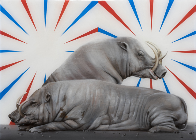 , 'Babirusas with wall painting,' 2015, Sullivan+Strumpf