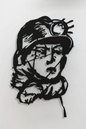 , 'Head (Miner),' 2016, Lia Rumma