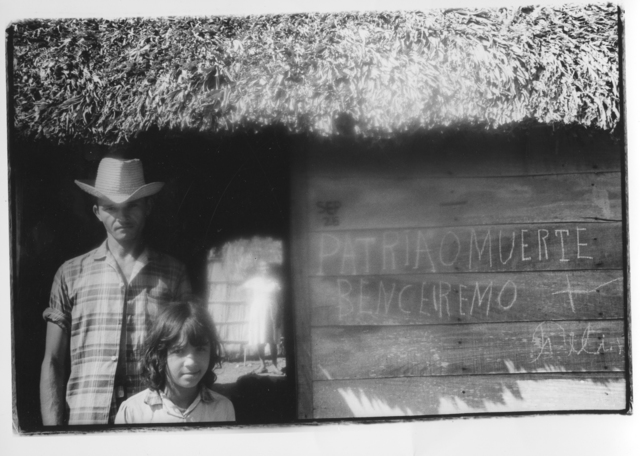 ", 'On the road between the Sierra Maestra and Santiago de Cuba - Man and child, ""Patria o muerte"" (Cuba series),' 1962, Galerie Nathalie Obadia"