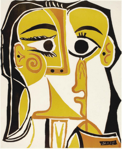 ", '""Head of a Woman"" (BL 1065),' , Jane Kahan Gallery"