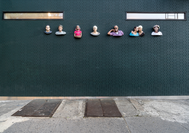 , 'Seven sculptures on the gallery facade, Summer 2017,' 2017, James Fuentes