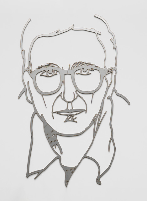 Tom Wesselmann, 'Self Portrait While Drawing (Edition)', 1986, Sculpture, Unpainted stainless steel, Cristea Roberts Gallery