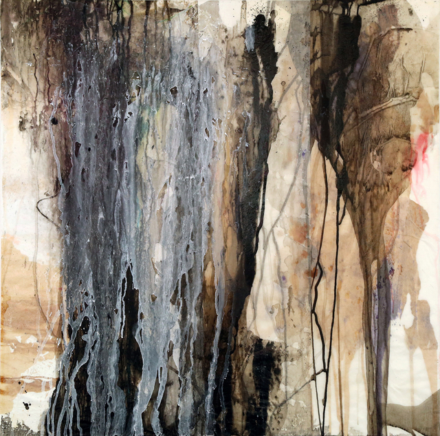 Jehan Saleh, 'Gibran', 2018, Painting, Collage, ink and acrylic on canvas, Janet Rady Fine Art