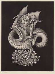 M.C. Escher, 'Dragon,' 1952, Phillips: Evening and Day Editions (October 2016)
