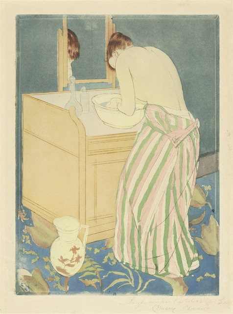 Mary Cassatt, 'Woman Bathing', 1890-1891, National Gallery of Art, Washington, D.C.