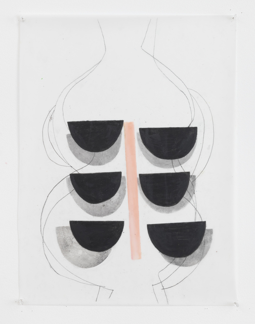 Vicki Sher, 'Untitled', 2018, Painting, Oil pastel and pencil on drafting film, FROSCH&CO