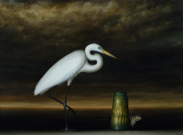 David Kroll, 'Egret and Landscape Vase', 2017, Lisa Sette Gallery