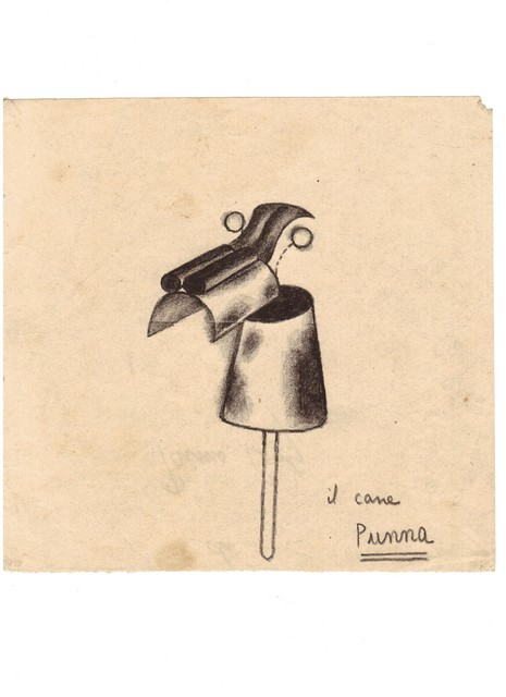 PRIMO CONTI, 'Il cane Punna ', not dated , OSART GALLERY