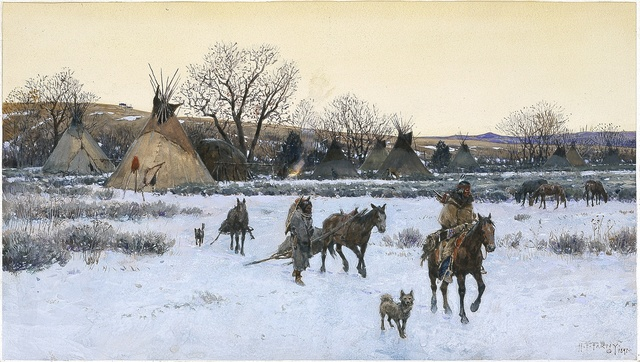 , 'Breaking Camp,' 1891, Blanton Museum of Art