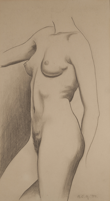 , 'Standing Nude,' 1934, ACA Galleries