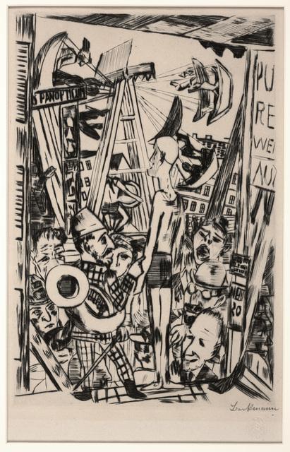 Max Beckmann, 'The Tall Man (Der Grosse Mann), plate V from The Annual Fair', 1921, Dallas Museum of Art