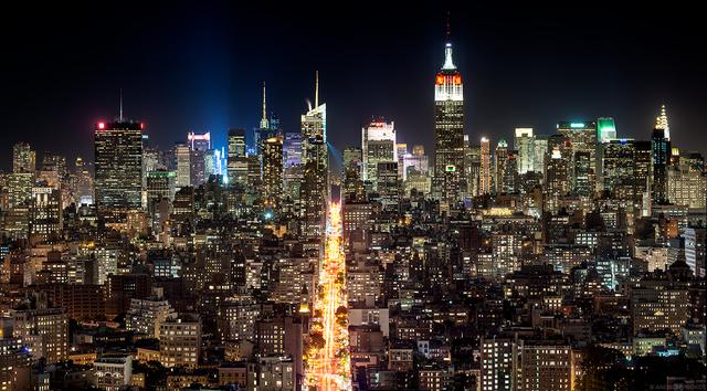 Andrew Prokos, 'Panoramic Cityscape of Manhattan at Night', 2017, Andrew Prokos Fine Art Photography