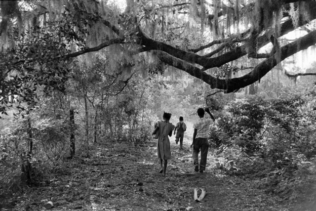 Constantine Manos, 'Kids Playing in the Backyard, Daufuskie Island, South Carolina', 1952, Photography, Gelatin silver print, Robert Klein Gallery