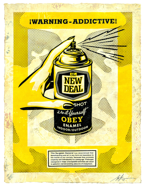 Shepard Fairey, 'Warning-Addictive!', Subliminal Projects