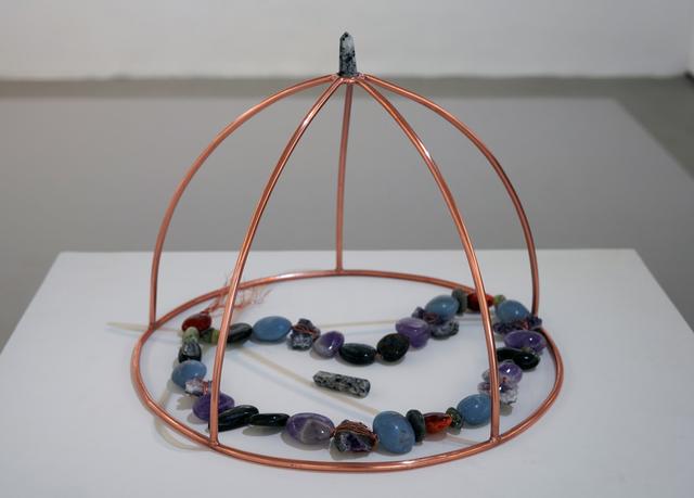 Kuki Jijo, 'B.M.E (Big Muslim Energy)', 2019, Sculpture, Precious stones, copper wire, and piping, Contemporary Art Platform Kuwait