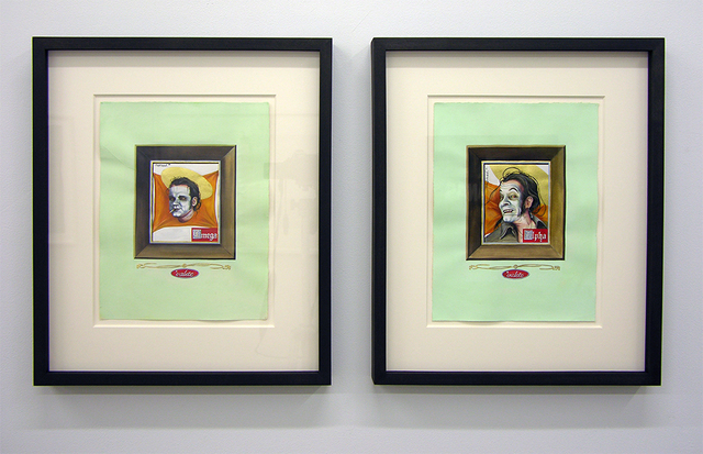 , 'Head of the Siren (diptych),' 2016, LMAKgallery