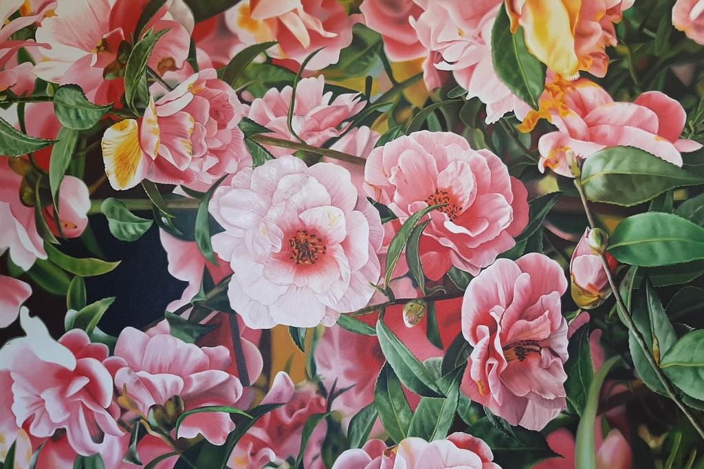 Pink Abbott 27-Desiree//Dessert Collection Flower Pedestal Dish