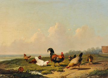 Chickens in a Landscape