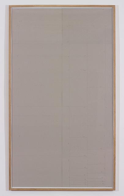 , 'Modulor / AF / 1944,' 2015, Dvir Gallery