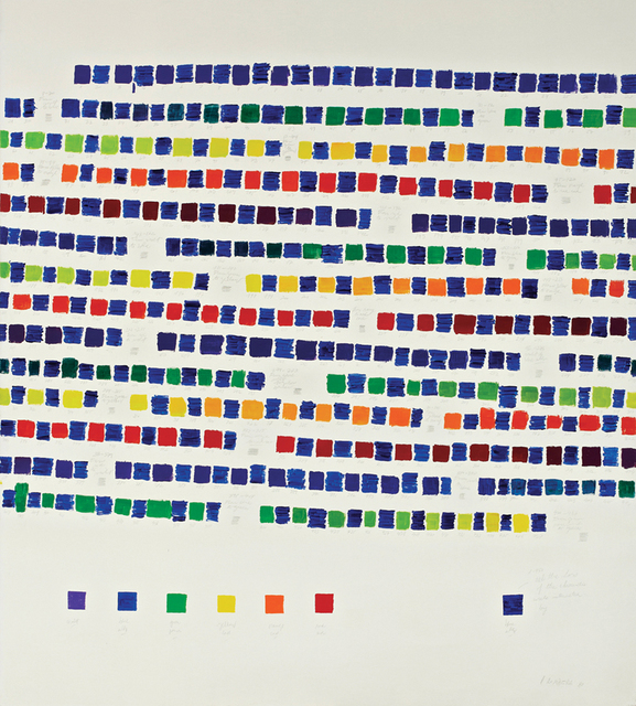 Osvaldo Romberg, '1-388 All the Colors of the Chromatic Circle Interacted by Blue Ultramarine,' 1980, Henrique Faria Fine Art
