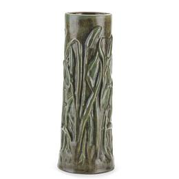 Fine and Rare Cattail Vase, Flemington, NJ