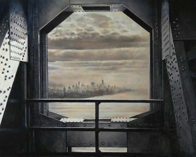 , 'Apotheosis No. 2 (View from the GW Bridge, 1937),' 2018, Lora Schlesinger Gallery