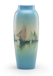 Marine Scenic Vellum vase (uncrazed), Cincinnati, OH