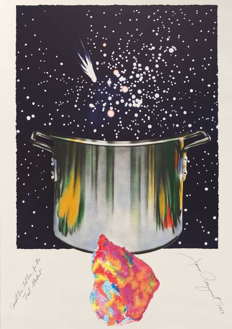 James Rosenquist, 'Caught one lost one for the fast student or star catcher', 1989, Print, Mixed Media, Kunzt Gallery