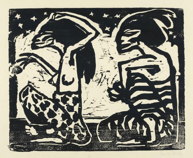 Emil Nolde, 'Mann und Weibchen (Man and Female)', 1912, Print, Woodcut, Alice Adam Ltd.