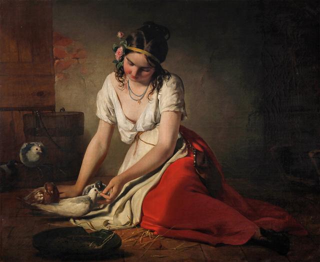 , 'Pigeon Girl,' 1840, Belvedere Museum