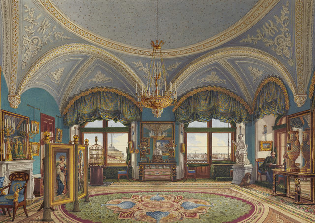 , 'The Corner Drawing-Room of Emperor Nicholas I in the Winter Palace,' Mid-19th century, The State Hermitage Museum