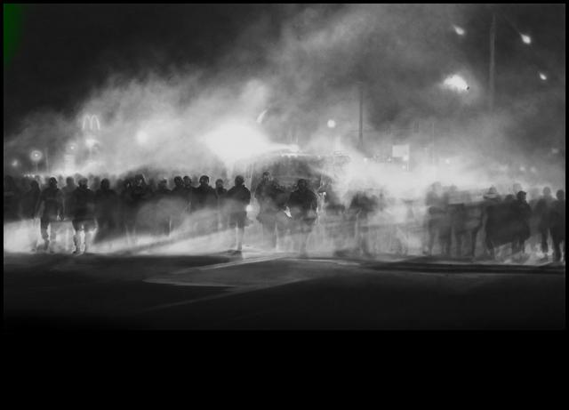 Robert Longo, 'Untitled (Ferguson) Diptych,' 2014, Petzel Gallery